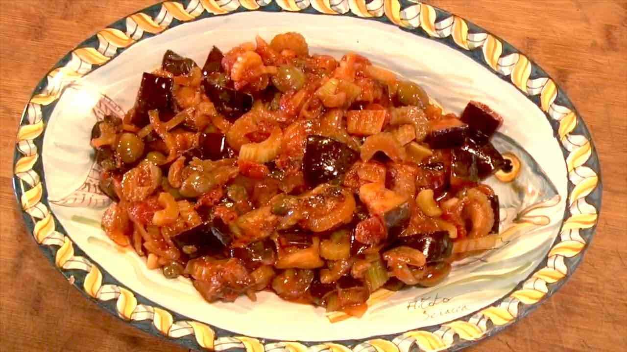 Ricetta caponata siciliana da preparare con ingredienti geniuini